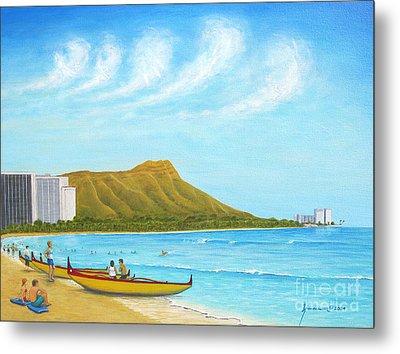 Waikiki Wonder Metal Print by Jerome Stumphauzer