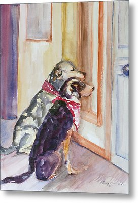 Waiting For Mary Metal Print by Nancy Brennand
