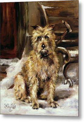 Waiting For Master   Metal Print by Jane Bennett Constable