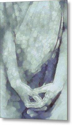 Waiting In Stillness And Peace Metal Print by Gun Legler