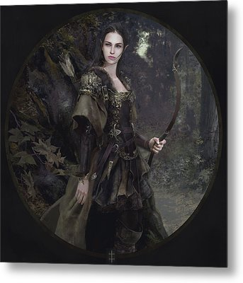 Waldelfe Metal Print by Eve Ventrue
