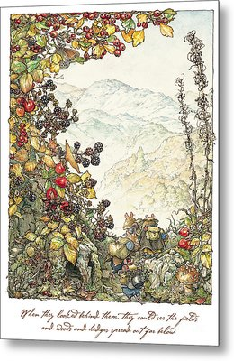 Walk To The High Hills Metal Print by Brambly Hedge