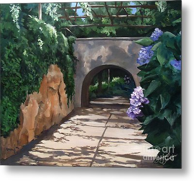Walk With Me Metal Print by Suzanne Schaefer