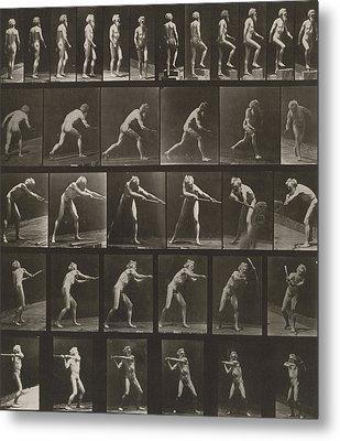 Walking, Ascending, Throwing Metal Print by Eadweard Muybridge