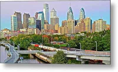 Walking Path To Philadelphia Metal Print by Frozen in Time Fine Art Photography