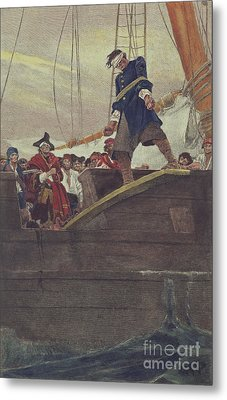 Walking The Plank Metal Print by Howard Pyle