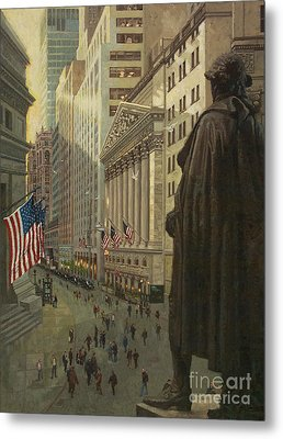Wall Street 1 Metal Print by Gary Kim