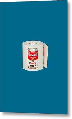 War Roll - Poop Art Metal Print by Nicholas Ely