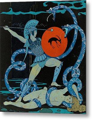 Warrior Metal Print by Georges Barbier