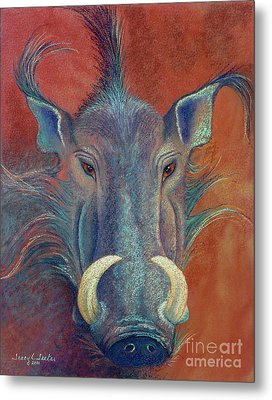 Warthog Defiance Metal Print by Tracy L Teeter