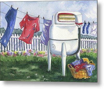Wash Day Blues Metal Print by Marsha Elliott