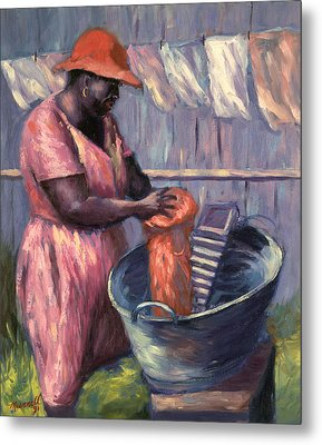 Wash Day Metal Print by Carlton Murrell