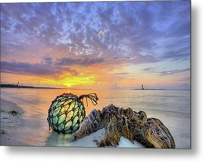 Washed Up In Pensacola Beach Metal Print by JC Findley