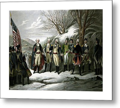 Washington And His Generals  Metal Print by War Is Hell Store