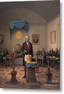 Washington As A Master Mason Metal Print by American School