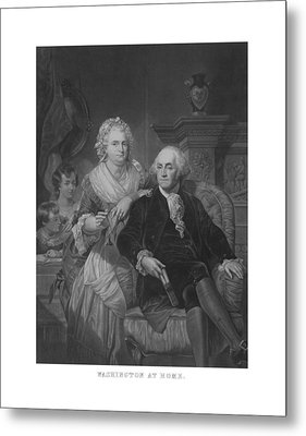 Washington At Home Metal Print by War Is Hell Store