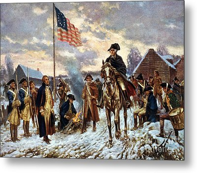 Washington At Valley Forge Metal Print by Unknown