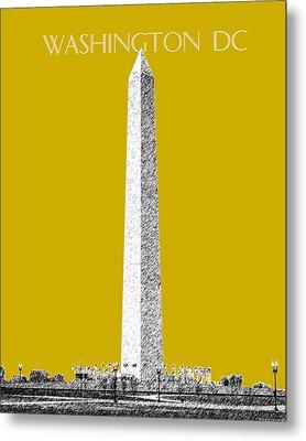 Washington Dc Skyline Washington Monument - Gold Metal Print by DB Artist