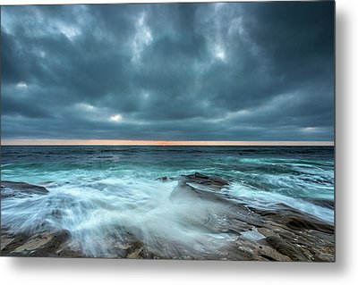 Washover Metal Print by Peter Tellone