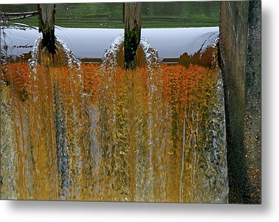Water Fall At Grismill Pond Metal Print by Danny Jones