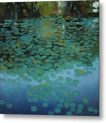 Water Lilies 3 Metal Print by Cap Pannell