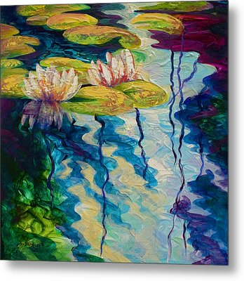 Water Lilies I Metal Print by Marion Rose