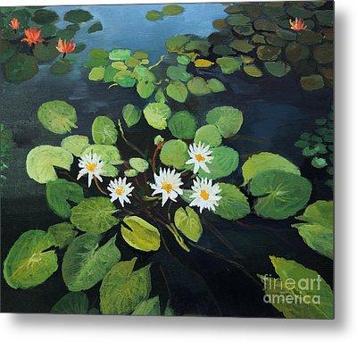 Water Lilies Metal Print by Kiril Stanchev