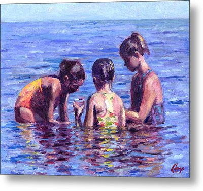 Water Nymphs Metal Print by Michael Camp