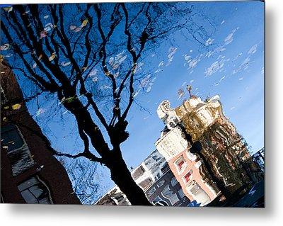 Water Reflection - Amsterdam  Metal Print by John Battaglino