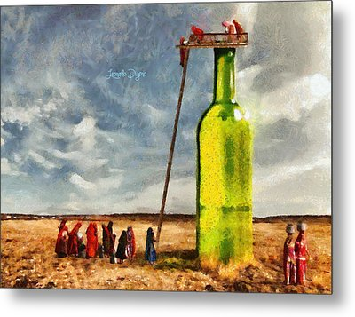 Water Source  - Camille Style -  - Da Metal Print by Leonardo Digenio