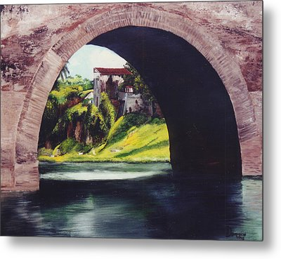 Water Under The Bridge Metal Print by Dominica Alcantara