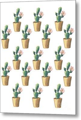 Watercolor Cactus Metal Print by Roam  Images