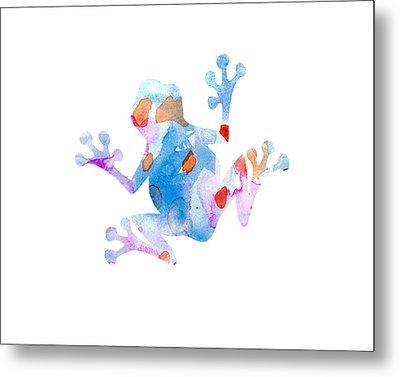 Watercolor Frog Metal Print by Nursery Art