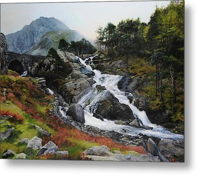 Waterfall In February. Metal Print by Harry Robertson