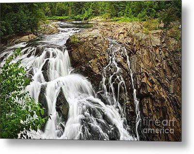 Waterfall In Wilderness Metal Print by Elena Elisseeva