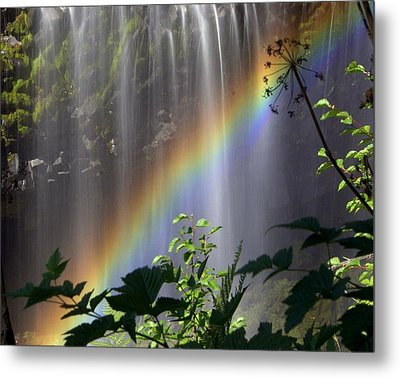 Waterfall Rainbow Metal Print by Marty Koch