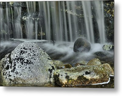 Waterfall Ribbons Metal Print by Stephen  Vecchiotti