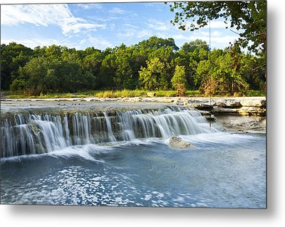 Waterfalls At Bull Creek Metal Print by Mark Weaver