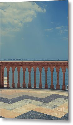 Waterfront Balcony Ringling Ca D Zan The Last Of The Gilded Mansions Metal Print by Edward Fielding
