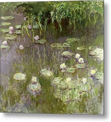 Waterlilies At Midday Metal Print by Claude Monet