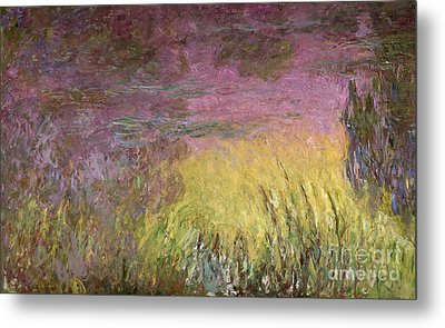 Waterlilies At Sunset Metal Print by Claude Monet