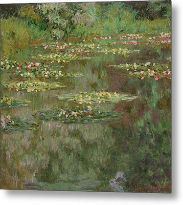 Waterlilies Or The Water Lily Pond Metal Print by Claude Monet
