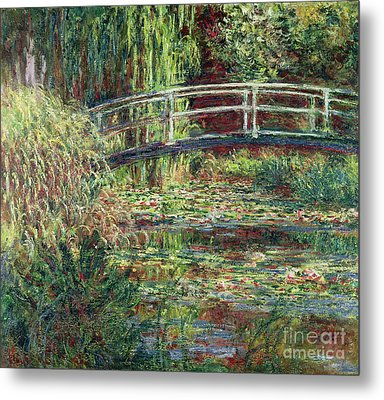 Waterlily Pond Pink Harmony 1900 Metal Print by Claude Monet