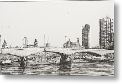 Waterloo Bridge Metal Print by Vincent Alexander Booth