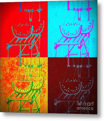 Watermelon On A Chair Metal Print by Jose Luis Montes