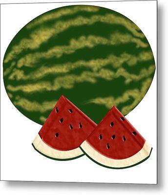 Watermelon Time Metal Print by Melissa Stinson-Borg