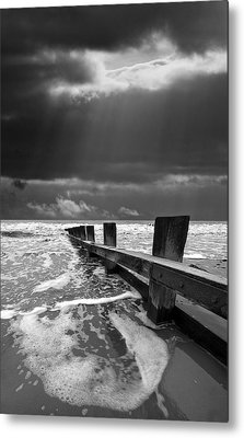 Wave Defenses Metal Print by Meirion Matthias