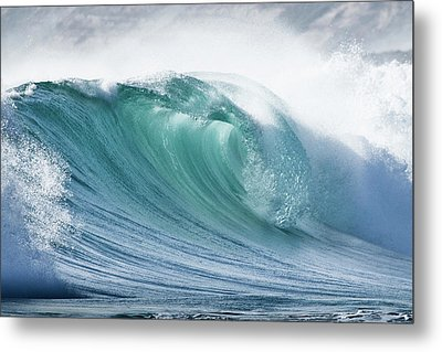 Wave In Pristine Ocean Metal Print by John White Photos