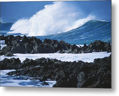 Waves And Rocks Metal Print by Kyle Rothenborg - Printscapes