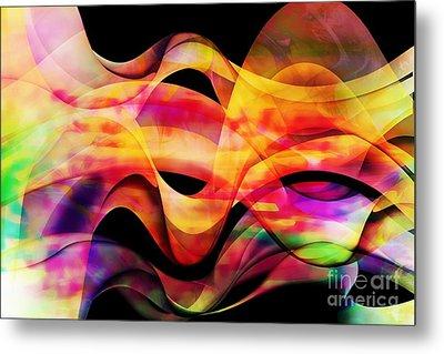 Waves Of Color Metal Print by Geraldine DeBoer